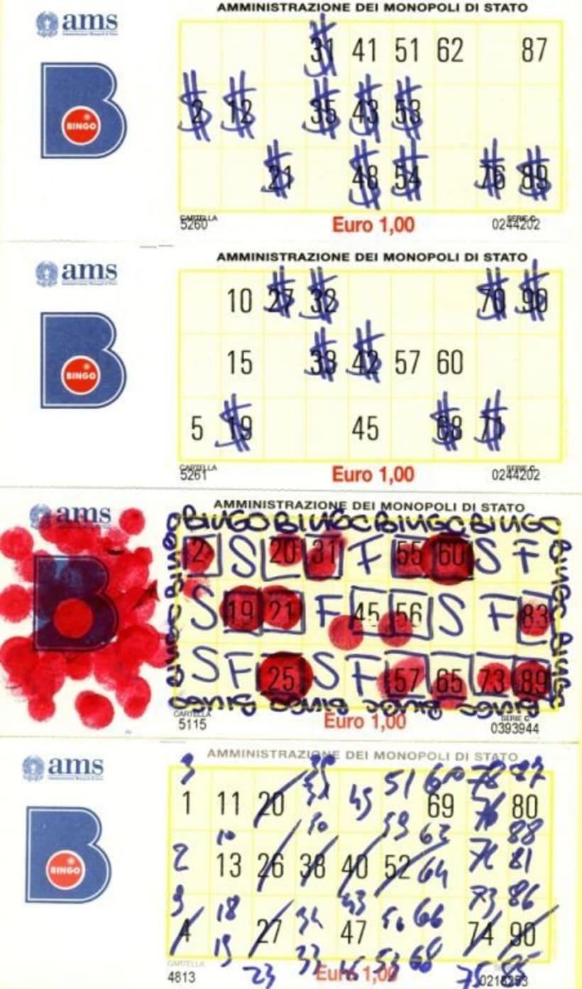 Arteludopático El lado artístico de un cartón de bingo. Proyecto de 2007 -1