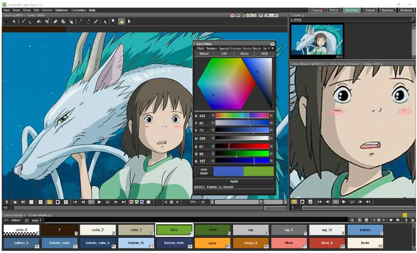 OpenToonz: software de animación gratis y open source 0