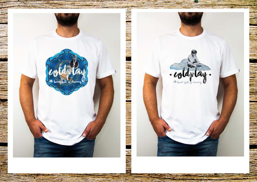 Diseño Concurso Camiseta ColdPlay (Gira 2016) 0