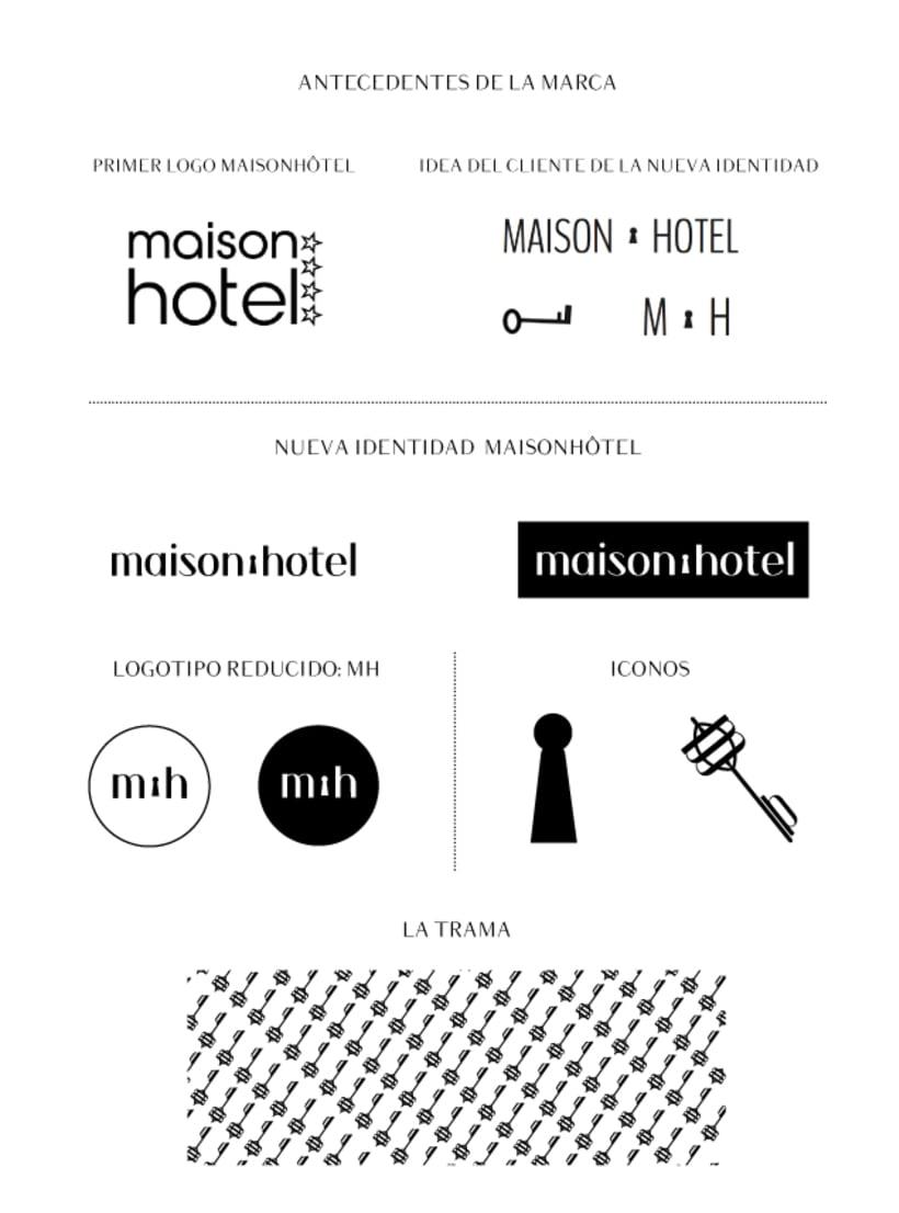Branding de moda completo para maison hôtel (www.maisonh.com) 0