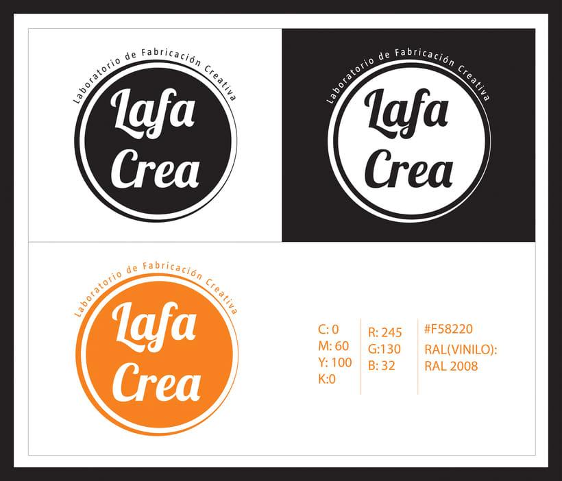 Identidad corporativa Lafa Crea ( Y aplicaciones de la misma) 1