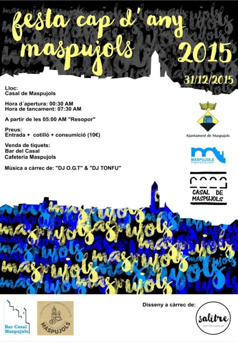 Cartel Fin de Año 2015 (Ajuntament Maspujols) -1