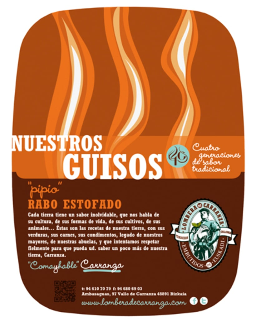 Brochure and label Lombera Embutidos 0