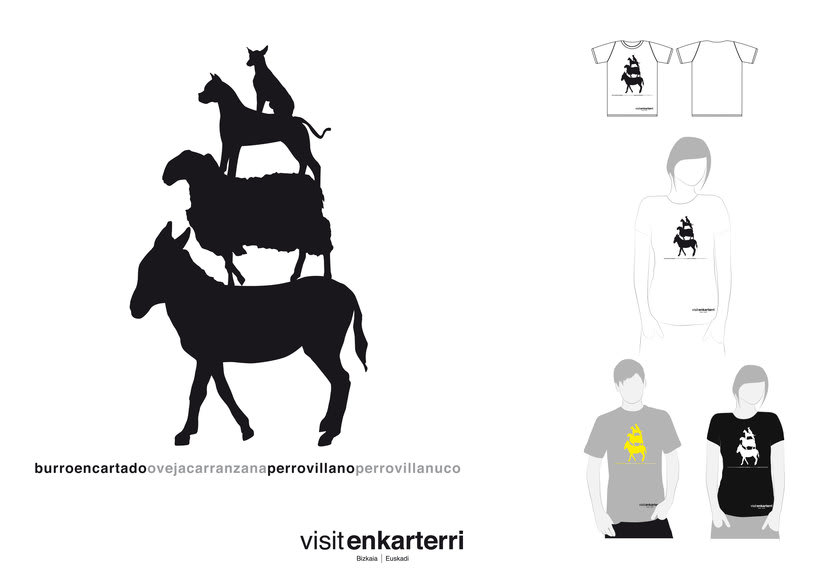Design of  t-shirts and fabric bags for Enkartur (Tourist promotion of  Las Encartaciones, Bizkaia) 1