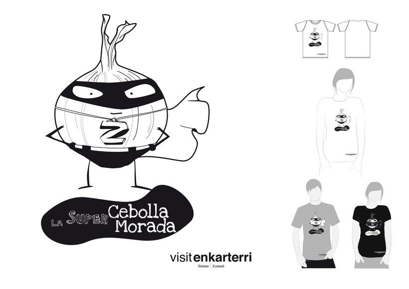 Design of  t-shirts and fabric bags for Enkartur (Tourist promotion of  Las Encartaciones, Bizkaia) 5
