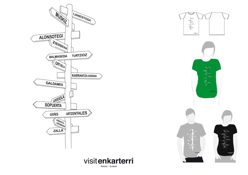 Design of  t-shirts and fabric bags for Enkartur (Tourist promotion of  Las Encartaciones, Bizkaia) 0