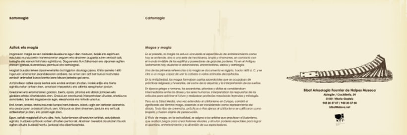 """Design exhibition display, poster and brochure for the playcards exhibition """"Cartomagia"""" 2"""