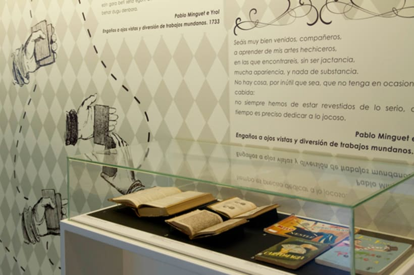 """Design exhibition display, poster and brochure for the playcards exhibition """"Cartomagia"""" 11"""