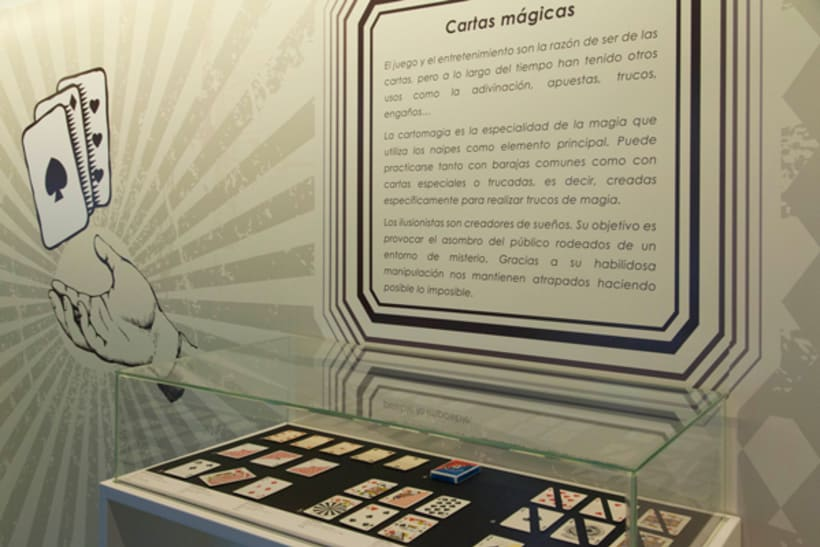 """Design exhibition display, poster and brochure for the playcards exhibition """"Cartomagia"""" 12"""