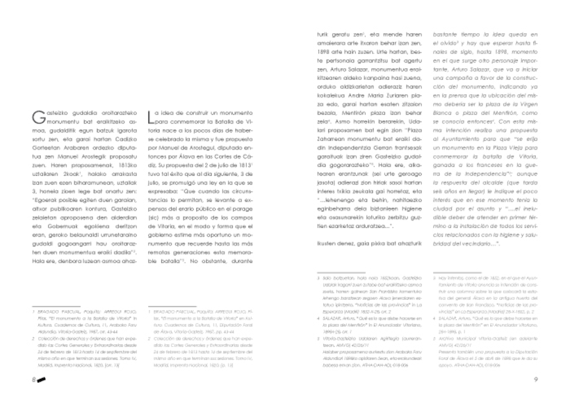 "Design and layout of the book  ""El Monumento a la Batalla de Vitoria"" 4"