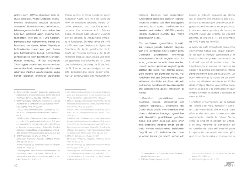 "Design and layout of the book  ""El Monumento a la Batalla de Vitoria"" 6"