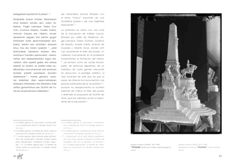 "Design and layout of the book  ""El Monumento a la Batalla de Vitoria"" 8"