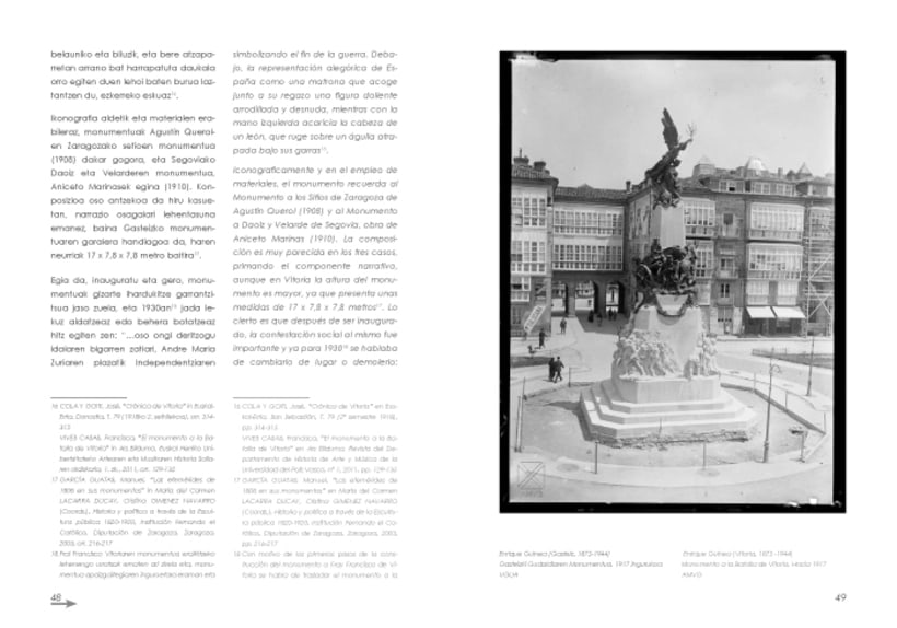 "Design and layout of the book  ""El Monumento a la Batalla de Vitoria"" 10"