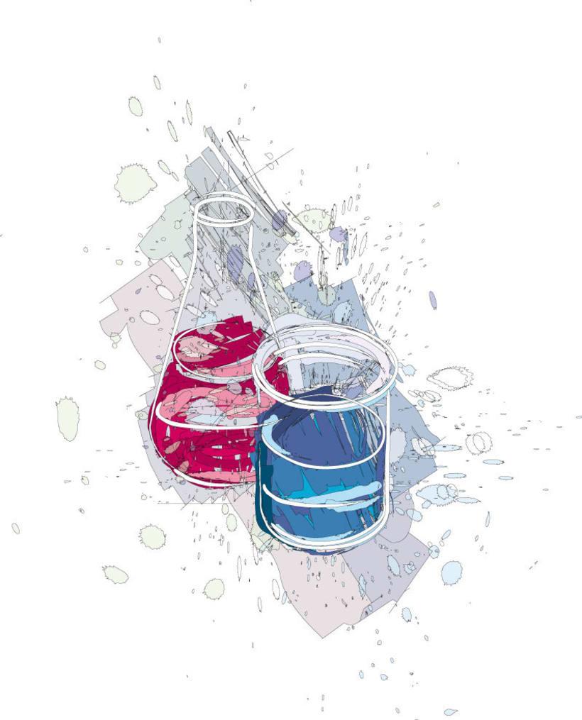 Ilustraciones para catálogo de barnices, pinturas, disolventes y adhesivos 0