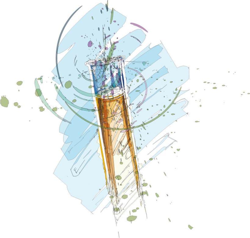 Ilustraciones para catálogo de barnices, pinturas, disolventes y adhesivos 2