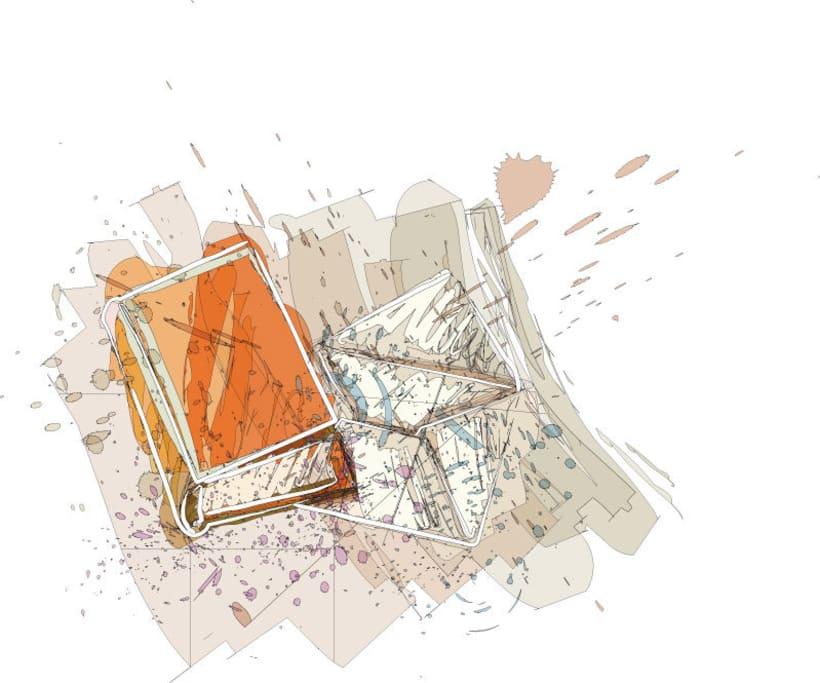 Ilustraciones para catálogo de barnices, pinturas, disolventes y adhesivos 1