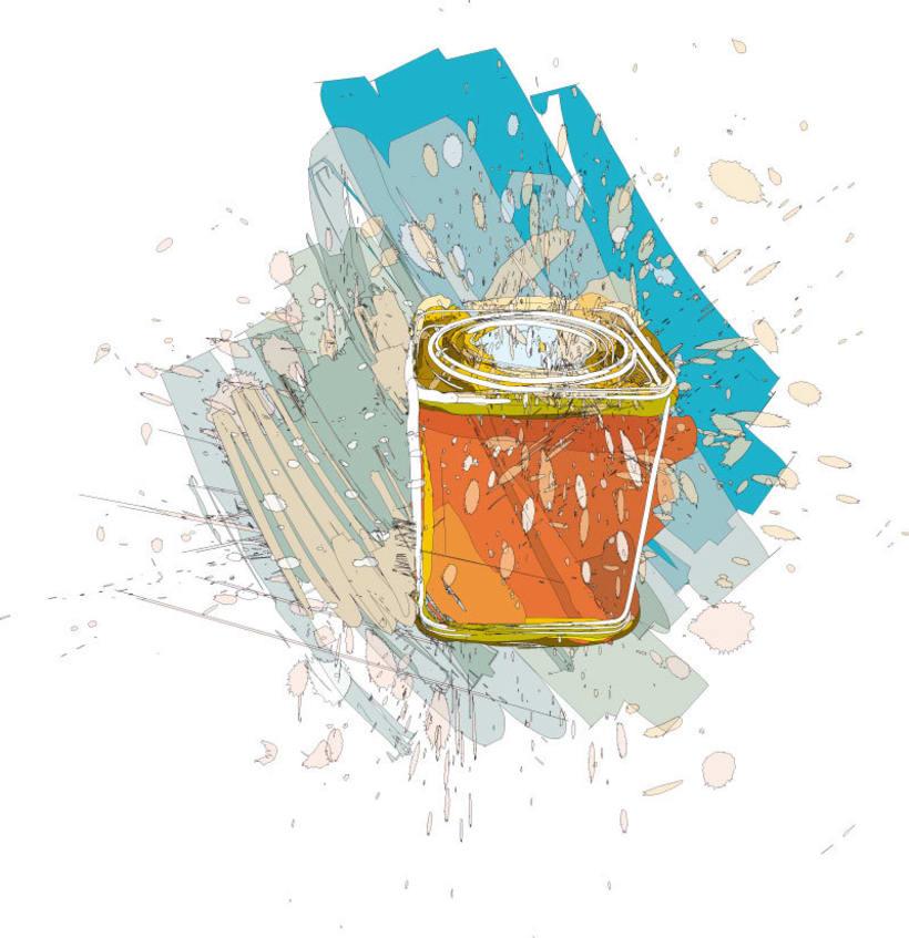 Ilustraciones para catálogo de barnices, pinturas, disolventes y adhesivos 5