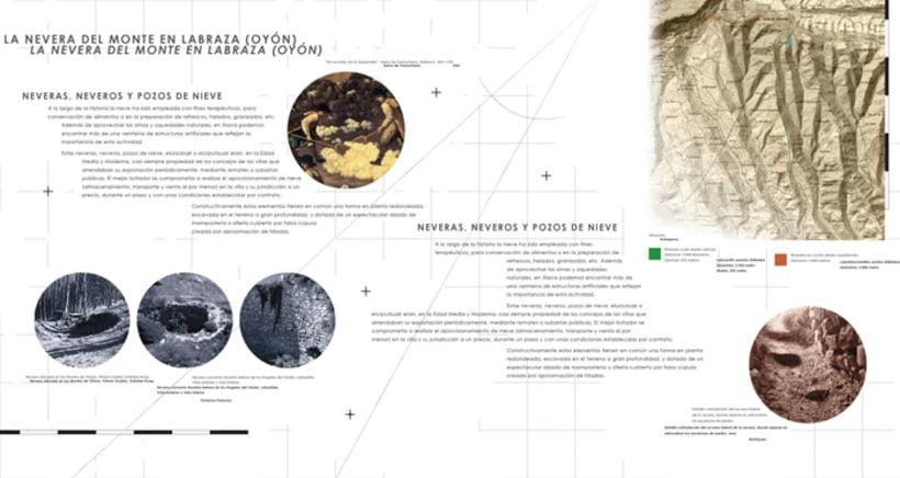 "Exhibition display and poster design for the exhibition ""La nevera del monte en Labraza"" 1"
