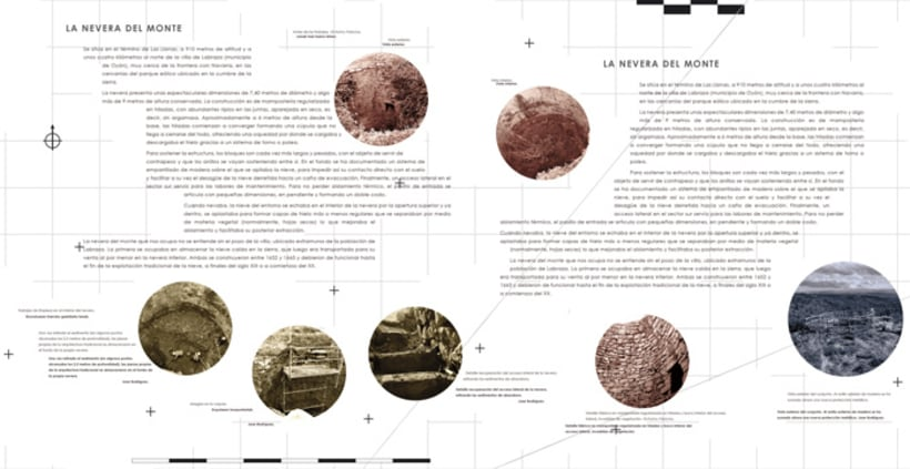 "Exhibition display and poster design for the exhibition ""La nevera del monte en Labraza"" 2"