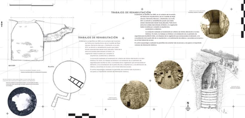 "Exhibition display and poster design for the exhibition ""La nevera del monte en Labraza"" 3"