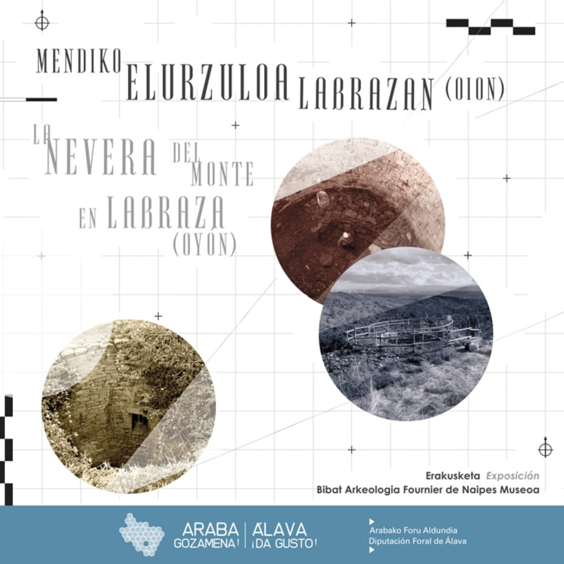 "Exhibition display and poster design for the exhibition ""La nevera del monte en Labraza"" 4"