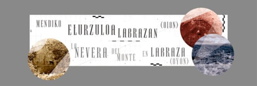"Exhibition display and poster design for the exhibition ""La nevera del monte en Labraza"" 5"