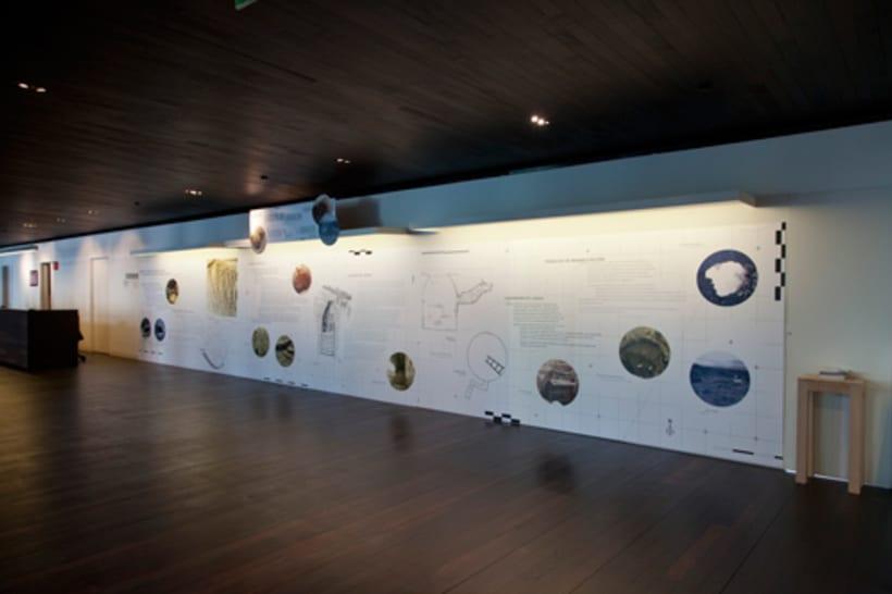 "Exhibition display and poster design for the exhibition ""La nevera del monte en Labraza"" 7"