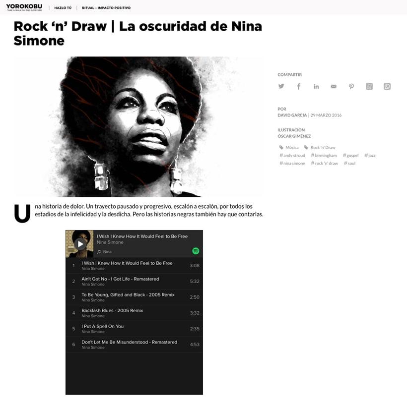 Yorokobu // Rock´n´Draw / Nina Simone 1