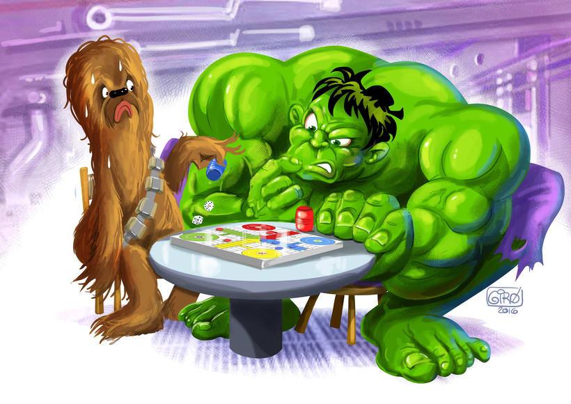 Chewie vs Hulk. Espeluznante duelo a muerte. -1