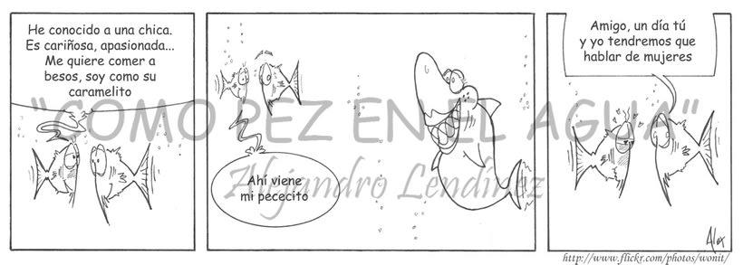 "Tira cómica: ""Como pez en el agua"" 3"