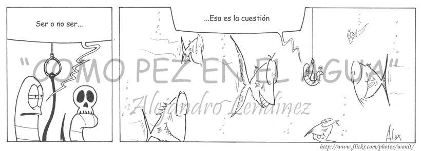 "Tira cómica: ""Como pez en el agua"" 5"