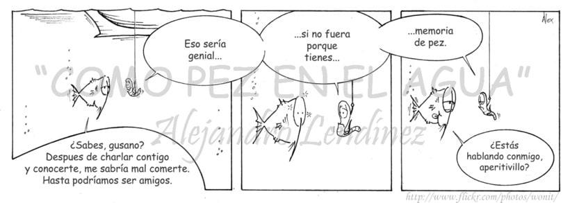 "Tira cómica: ""Como pez en el agua"" 14"