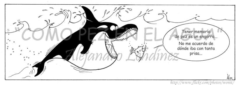 "Tira cómica: ""Como pez en el agua"" 15"
