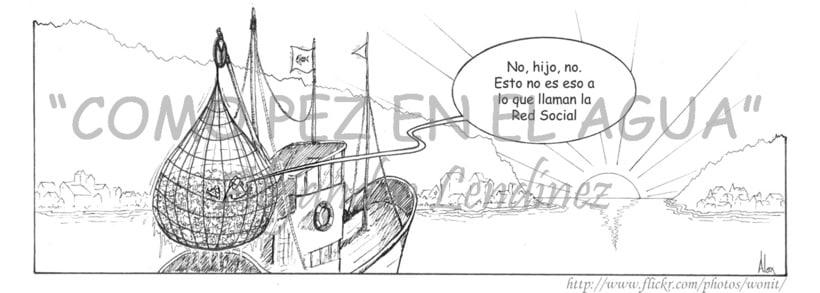"Tira cómica: ""Como pez en el agua"" 19"