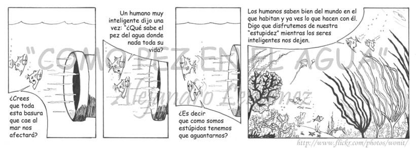 "Tira cómica: ""Como pez en el agua"" 26"