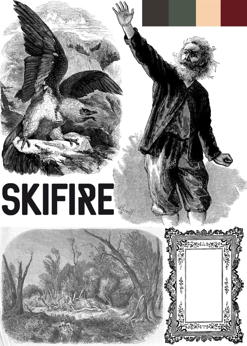 """Mi Proyecto del curso: Cartelismo ilustrado """"SKIFIRE 1"""" + """"SKIFIRE 2"""" 4"""