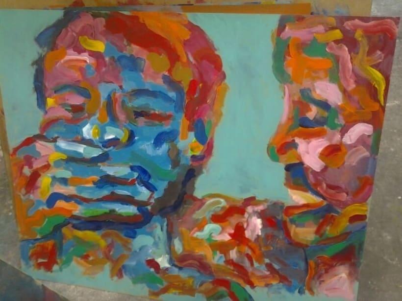Pintura. Proyecto holi (primavera india) 1
