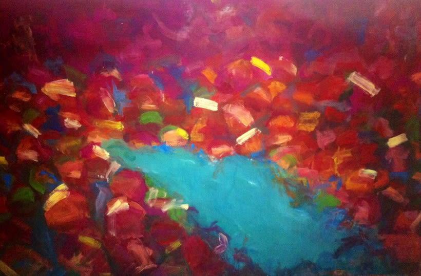 Pintura. Proyecto holi (primavera india) 2
