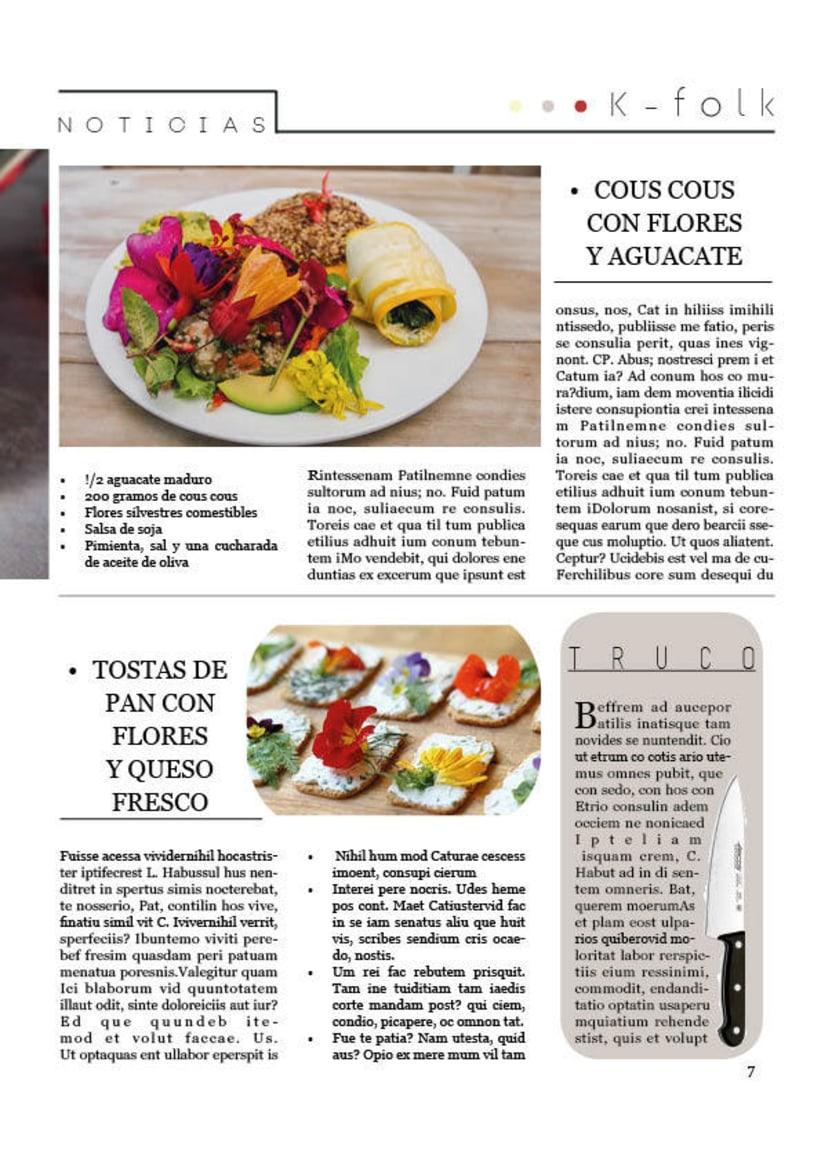 Diseño gráfico. Diseño editorial, revistas y flyers. 9