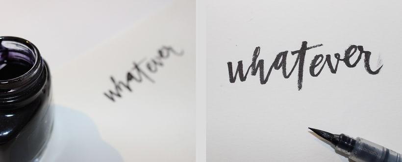 whatever brush lettering 1