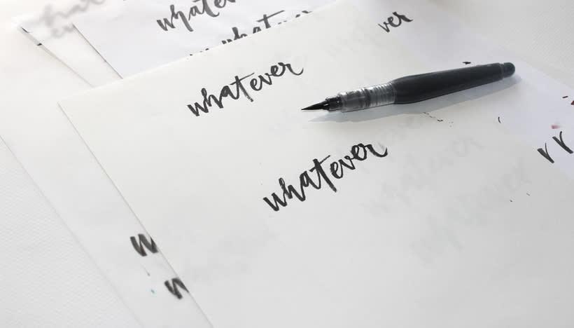 whatever brush lettering 3