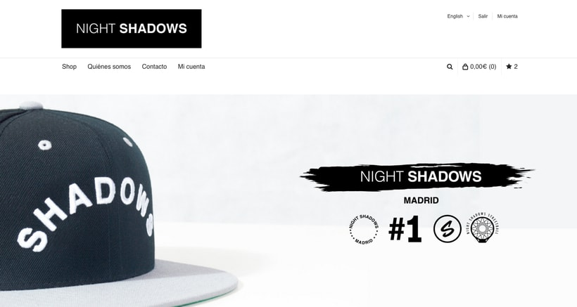 Night Shadows  - Web Desing -1