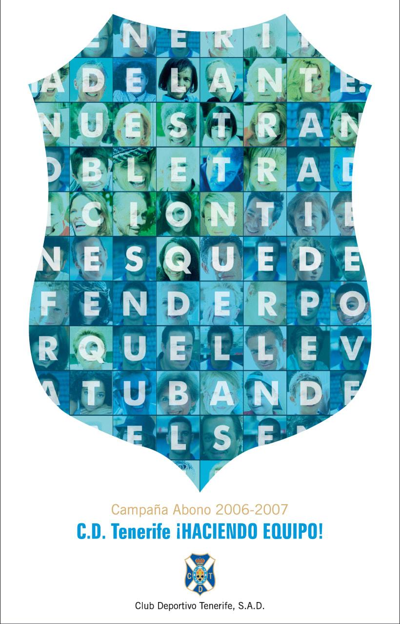 CLUB DEPORTIVO TENERIFE - ¡HACIENDO EQUIPO! CAMPAÑA DE ABONOS 06/07 0