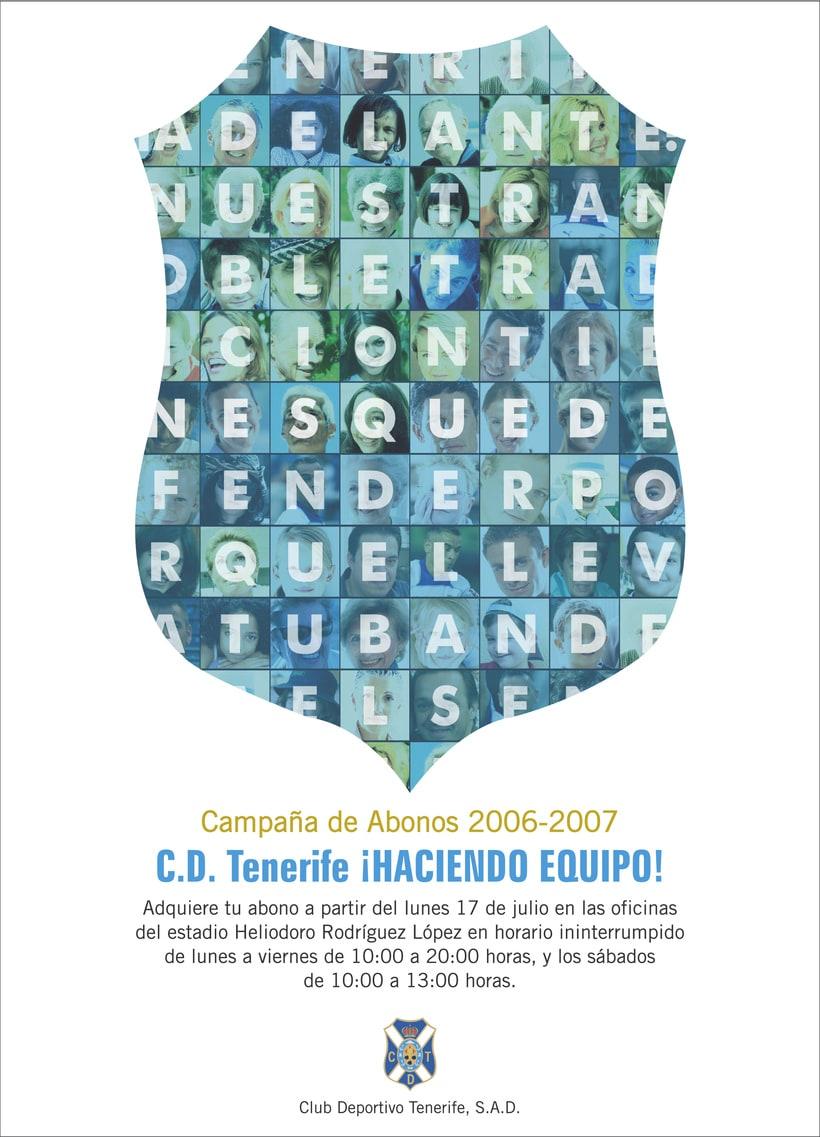 CLUB DEPORTIVO TENERIFE - ¡HACIENDO EQUIPO! CAMPAÑA DE ABONOS 06/07 2
