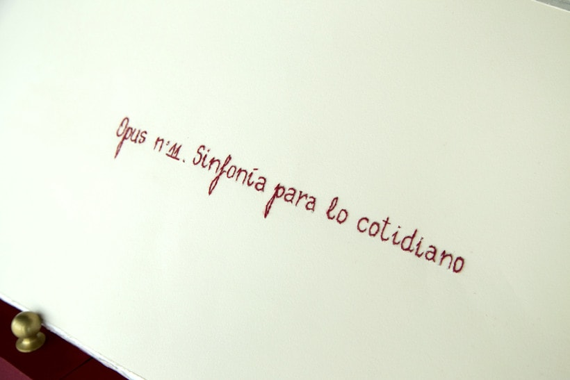 || Ruidos || Libro de artista - Opus nº 11 Sinfonía para lo cotidiano || Bordados sobre papel. 2