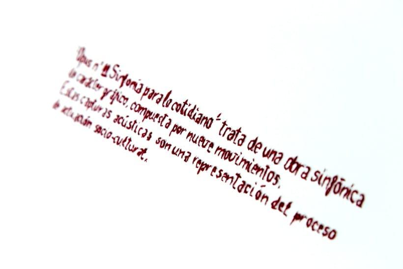 || Ruidos || Libro de artista - Opus nº 11 Sinfonía para lo cotidiano || Bordados sobre papel. 3