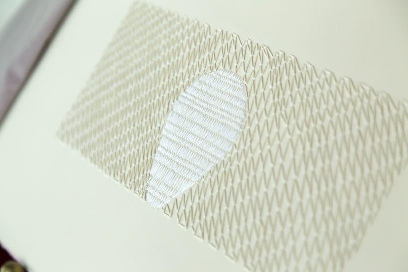 || Ruidos || Libro de artista - Opus nº 11 Sinfonía para lo cotidiano || Bordados sobre papel. 5