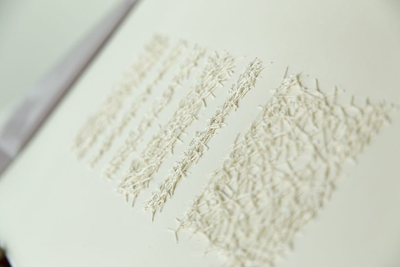 || Ruidos || Libro de artista - Opus nº 11 Sinfonía para lo cotidiano || Bordados sobre papel. 6