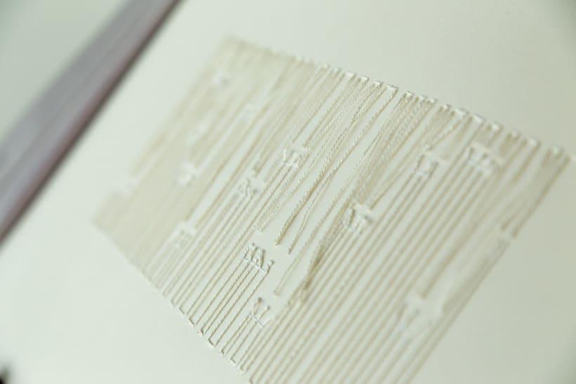 || Ruidos || Libro de artista - Opus nº 11 Sinfonía para lo cotidiano || Bordados sobre papel. 7