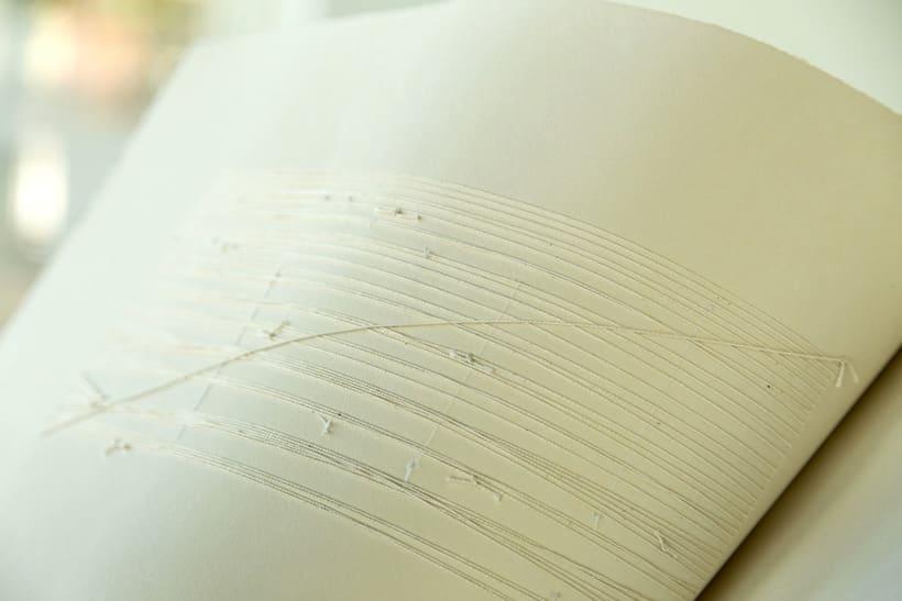 || Ruidos || Libro de artista - Opus nº 11 Sinfonía para lo cotidiano || Bordados sobre papel. 12